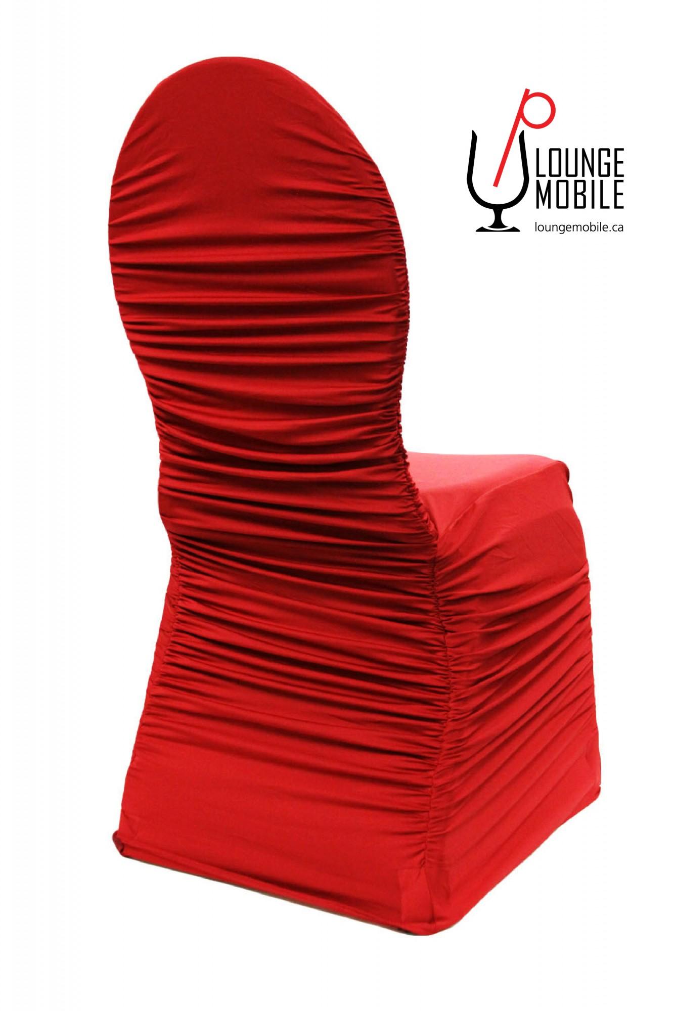Housse de chaise lycra froiss rouge d coration les for Housse lycra