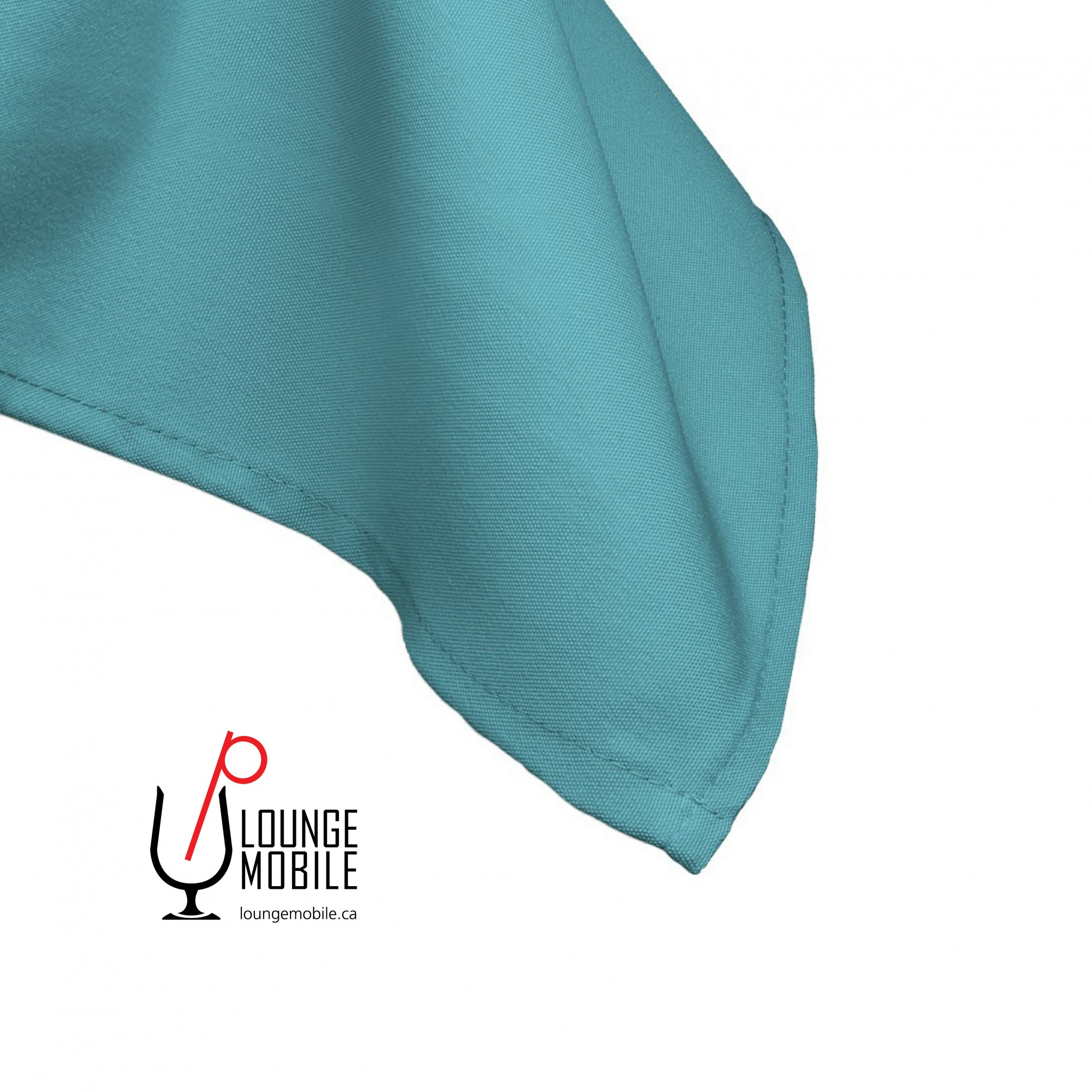 nappe carr e polyester turquoise 52 39 39 x 52 39 39 nappes les productions c l brason site officiel. Black Bedroom Furniture Sets. Home Design Ideas