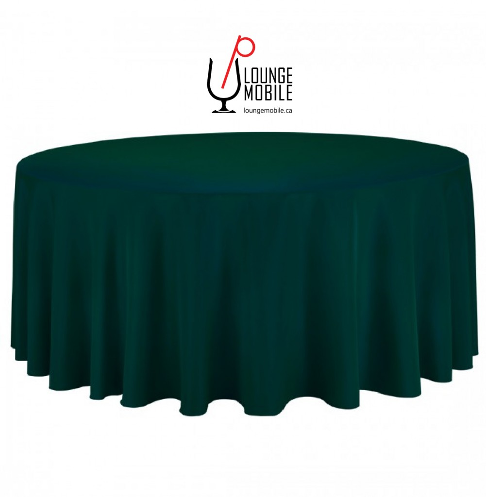 nappe ronde polyester 132 39 39 vert for t d coration les productions c l brason site officiel. Black Bedroom Furniture Sets. Home Design Ideas