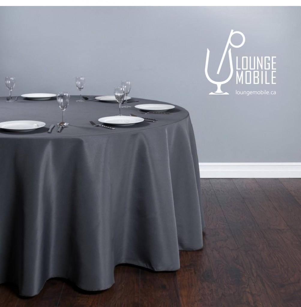 Nappe ronde polyester 132 39 39 gris charcoal d coration - Couleur gris charcoal ...