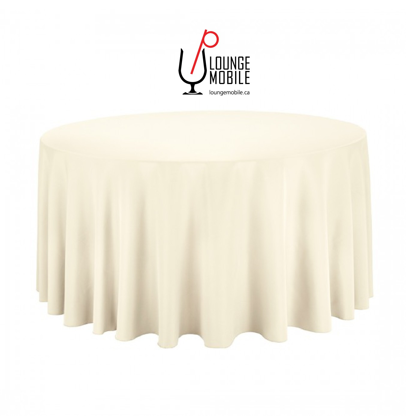 Nappe ronde polyester 120 39 39 ivoire d coration les - Nappe table ronde 120 ...