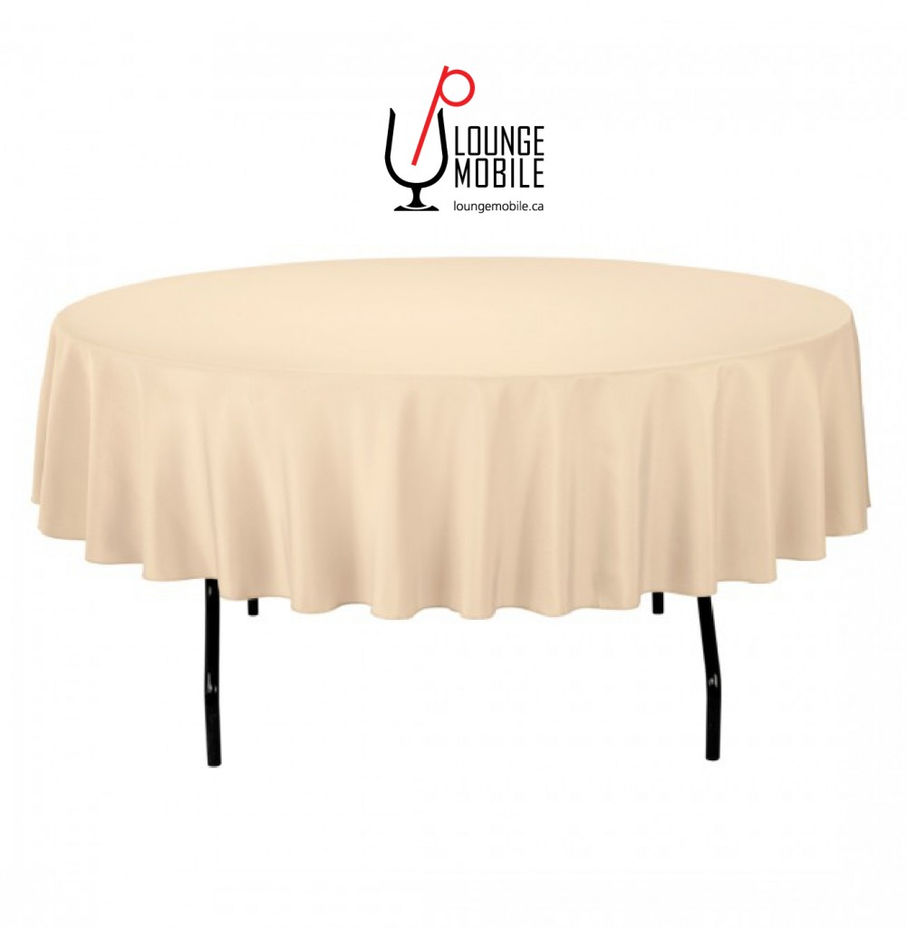 nappe ronde polyester 90 39 39 beige d coration les productions c l brason site officiel. Black Bedroom Furniture Sets. Home Design Ideas