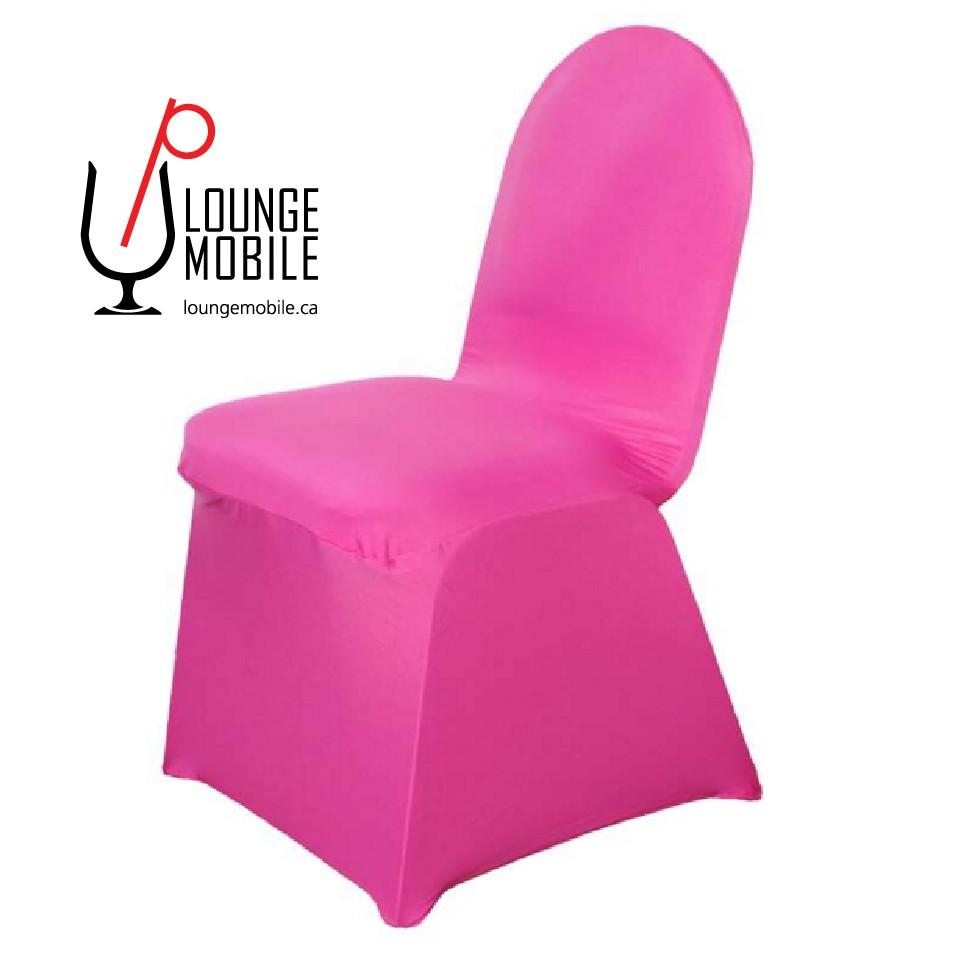 Housse de chaise lycra fuchsia housses de chaises les for Housse lycra