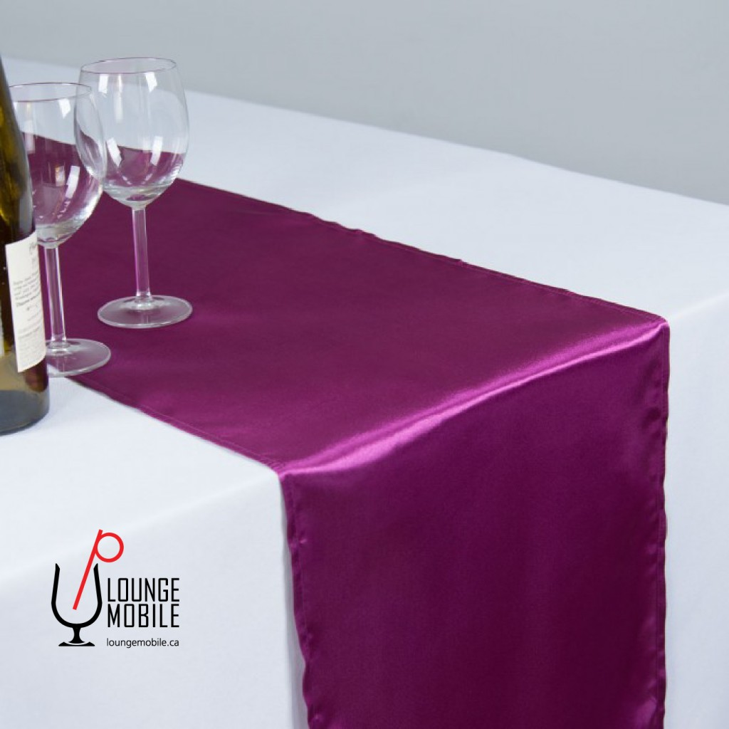 Chemin de table satin violet ros d coration les productions c l brason site officiel - Chemin de table violet ...